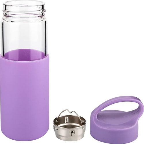 botella agua cristal silicona