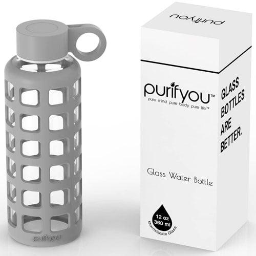 botella cristal silicona purifyou